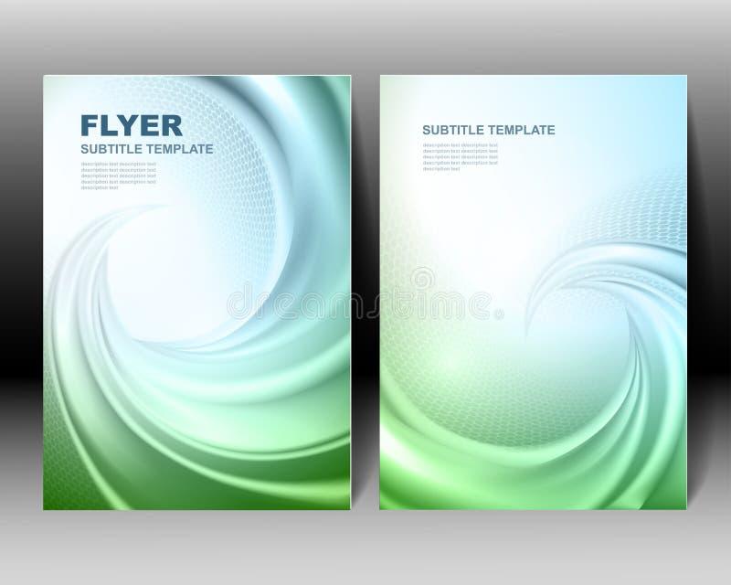 Het vectorontwerp van het brochuremalplaatje royalty-vrije illustratie