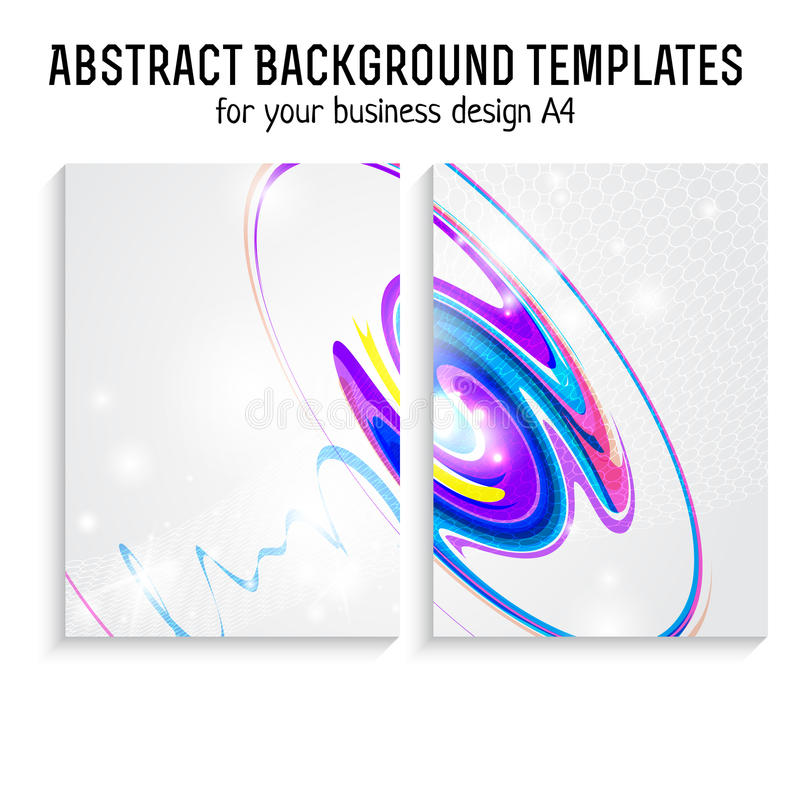 Het vectorontwerp van het brochuremalplaatje met technologie, lijnelementen A4 affiche stock illustratie