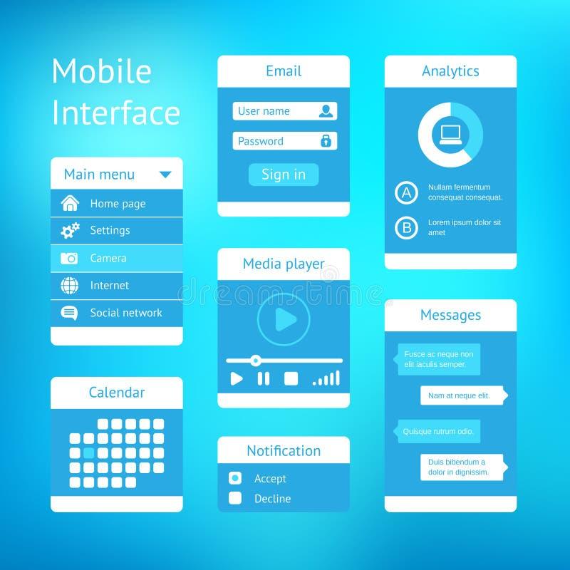 Het vectorontwerp van het interfacemalplaatje royalty-vrije illustratie