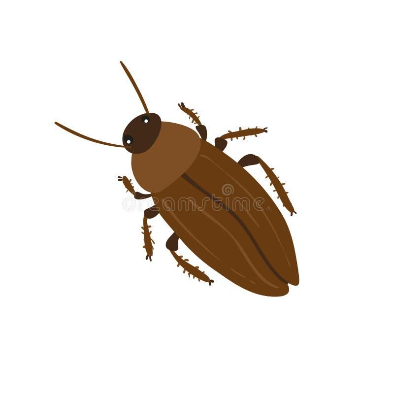 Het vectorontwerp van het kakkerlakkenkarakter vector illustratie