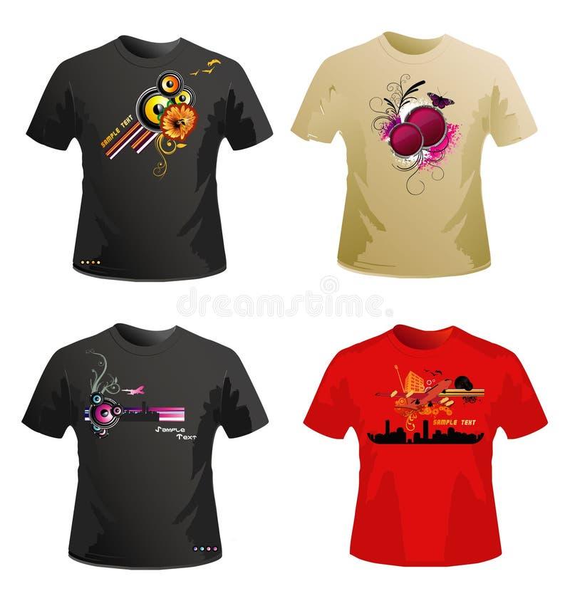 Het vectorontwerp van overhemden vector illustratie