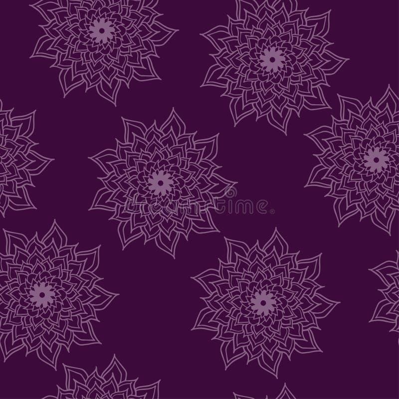 Het vectorornament van het symmetriepatroon naadloos met mandala royalty-vrije illustratie
