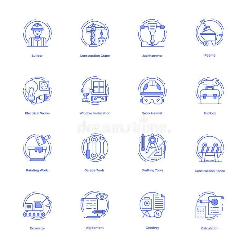 Het Vectorpak van bouwhulpmiddelen stock illustratie