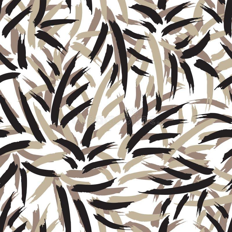 Het vectorpatroon van het bladluchtpenseel royalty-vrije illustratie