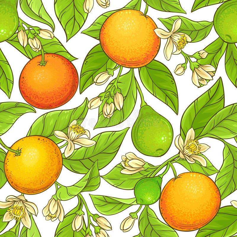 Het vectorpatroon van de grapefruittak stock illustratie