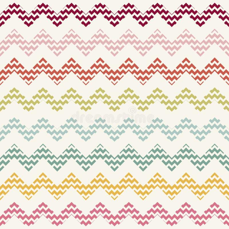 Het vectorpatroon van de zigzagchevron stock illustratie