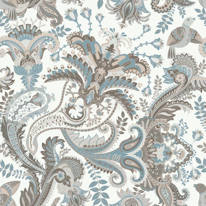 Het vectorpatroon van Paisley Indisch ornament voor textiel, dekking, behang, achtergrond vector illustratie