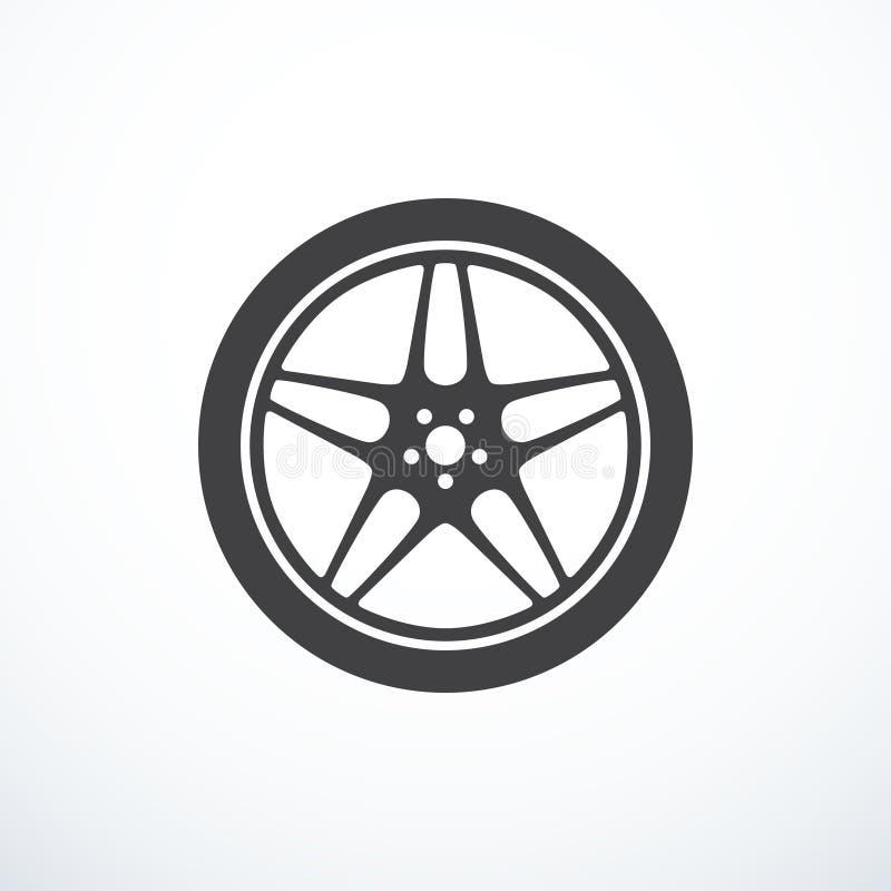 Het vectorpictogram van het autowiel royalty-vrije illustratie