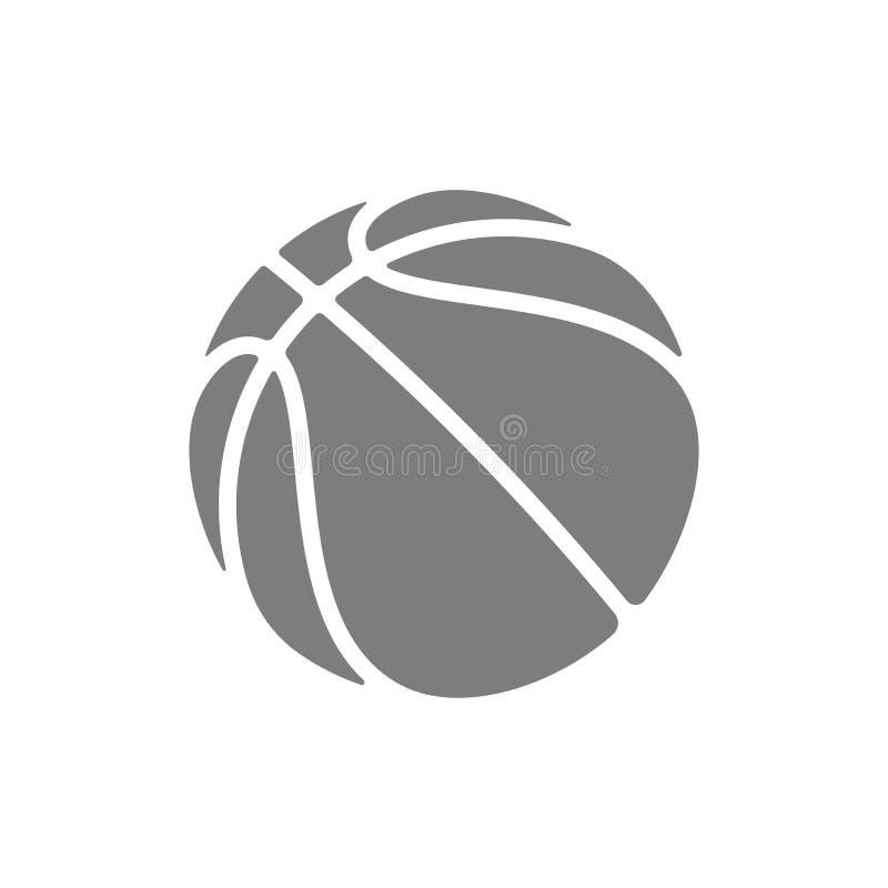 Het vectorpictogram van het basketbalembleem voor de toernooien van het streetballkampioenschap, school of de liga van het univer stock illustratie