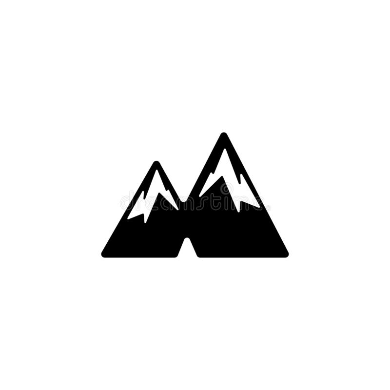 het vectorpictogram van het bergembleem of geïsoleerd symboolelement vector illustratie