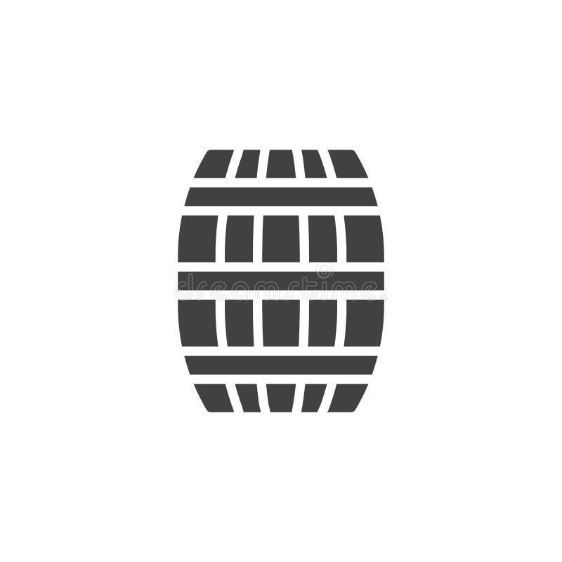 Het vectorpictogram van het biervat stock illustratie