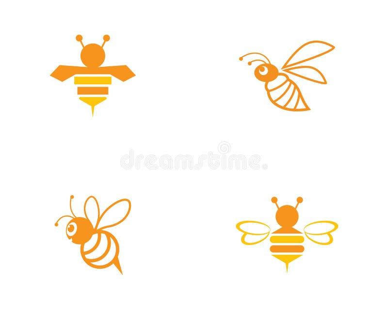 Het vectorpictogram van het bijenembleem stock foto