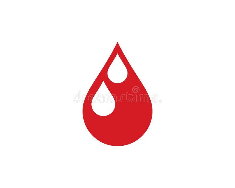 Het vectorpictogram van het bloedembleem stock illustratie