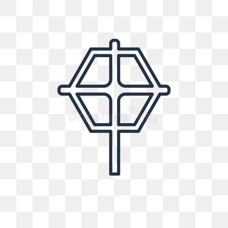 Het vectorpictogram van Christian Reformed Church op transparante bedelaars royalty-vrije illustratie
