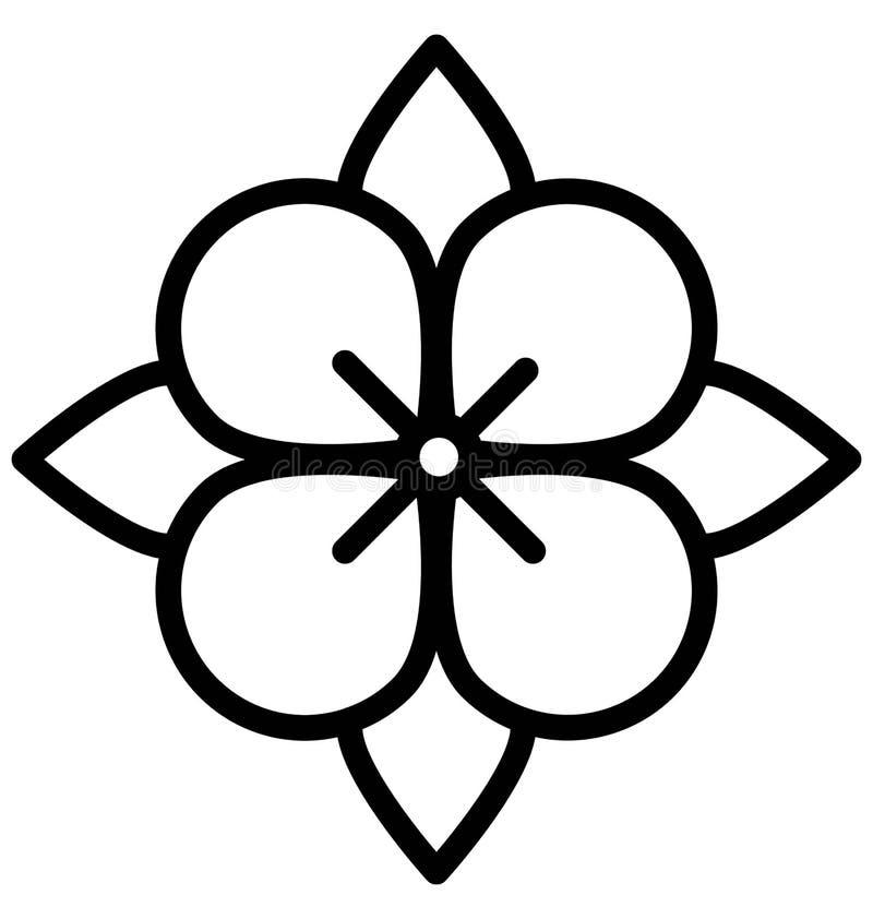 Het Vectorpictogram van de anemoonbloem dat gemakkelijk gewijzigd of uitgeven kan royalty-vrije illustratie