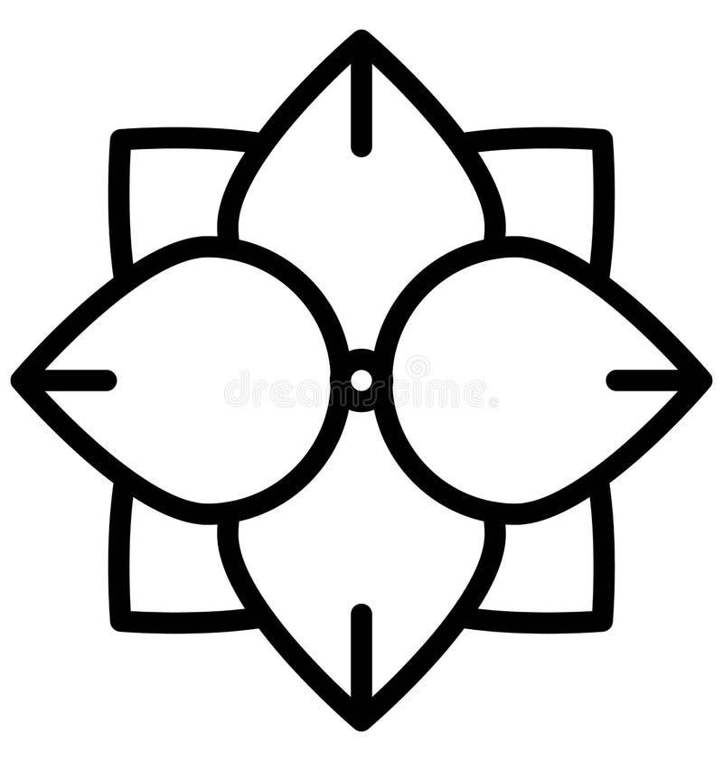 Het Vectorpictogram van de anemoonbloem dat gemakkelijk gewijzigd of uitgeven kan stock illustratie
