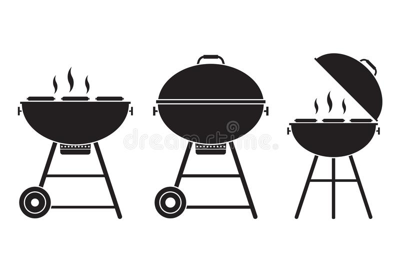 Het vectorpictogram van de barbecuegrill vector illustratie