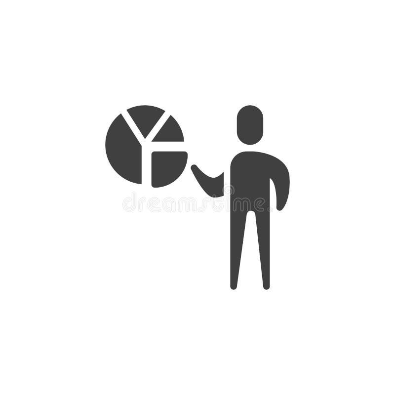 Het vectorpictogram van de bedrijfspresentatiegrafiek royalty-vrije illustratie