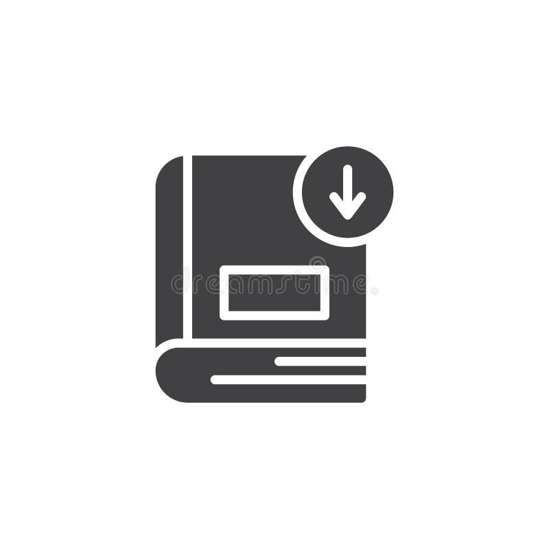 Het vectorpictogram van de boekdownload vector illustratie