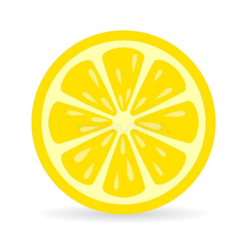 Het vectorpictogram van de citroenplak vector illustratie