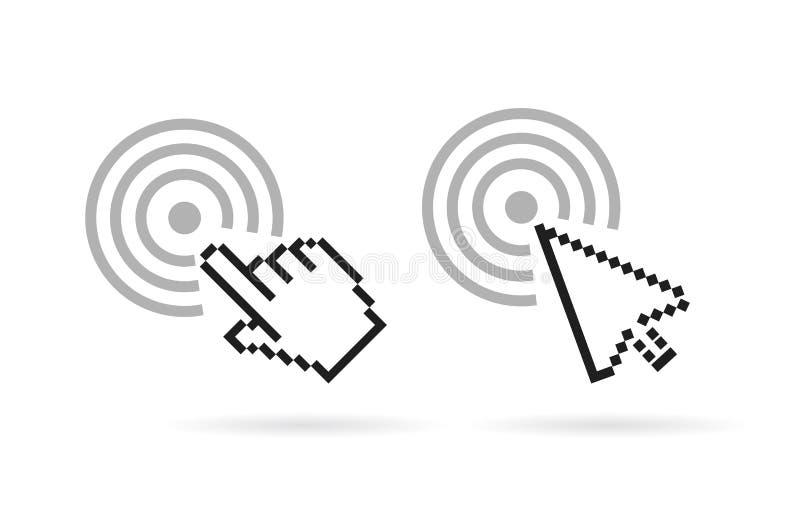 Het vectorpictogram van de computercurseur vector illustratie