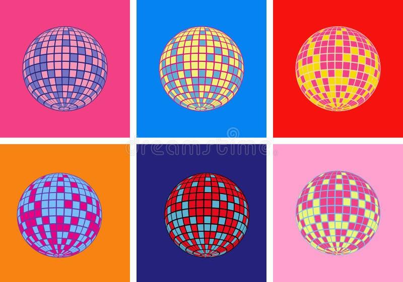 Het vectorpictogram van de discobal stock illustratie