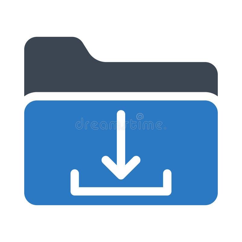 Het vectorpictogram van de folder glyph kleur royalty-vrije illustratie