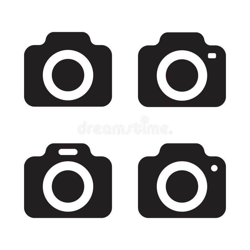 Het vectorpictogram van de fotocamera, reeks van gewaagd pictogram stock illustratie