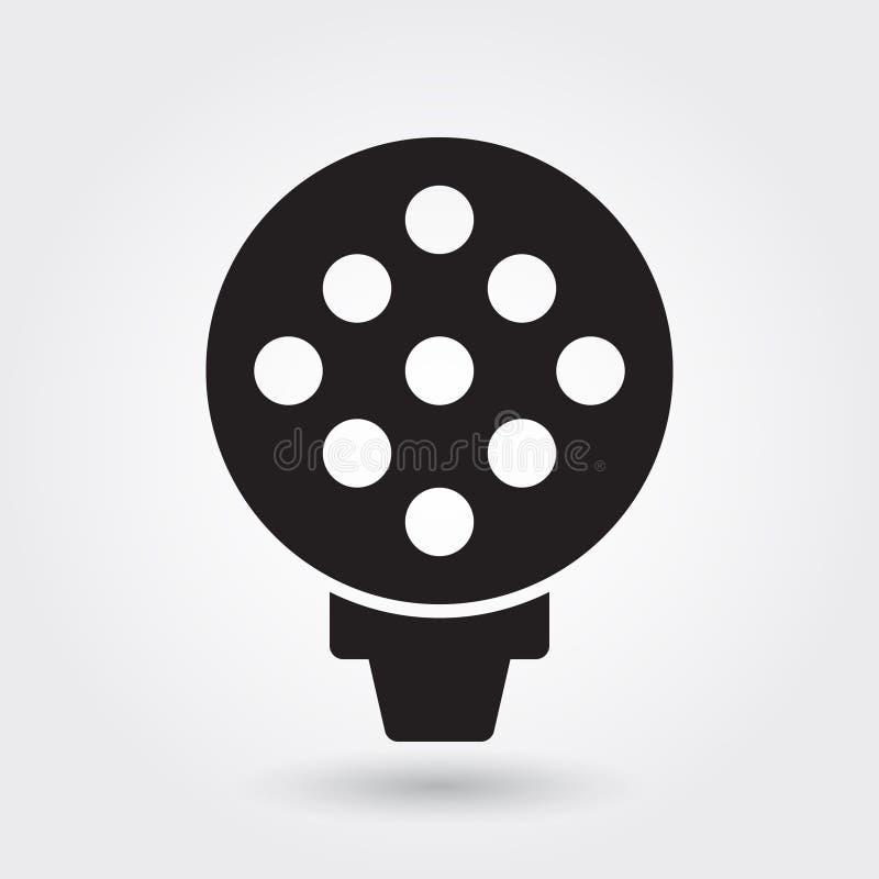 Het vectorpictogram van de golfsport, Golfbalpictogram, het symbool van de Sportenbal Moderne, eenvoudige glyph, stevige vectoril vector illustratie