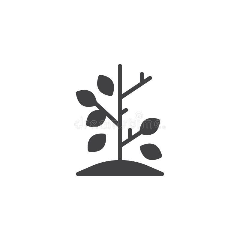 Het vectorpictogram van de de herfstboom royalty-vrije illustratie