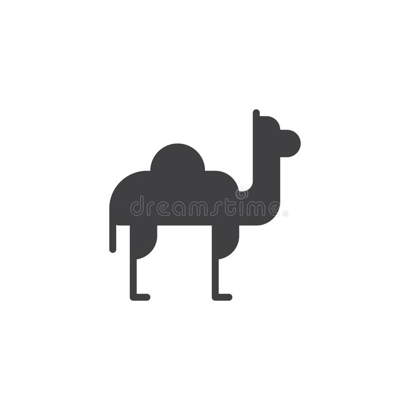 Het vectorpictogram van de kameeldromedaris royalty-vrije illustratie