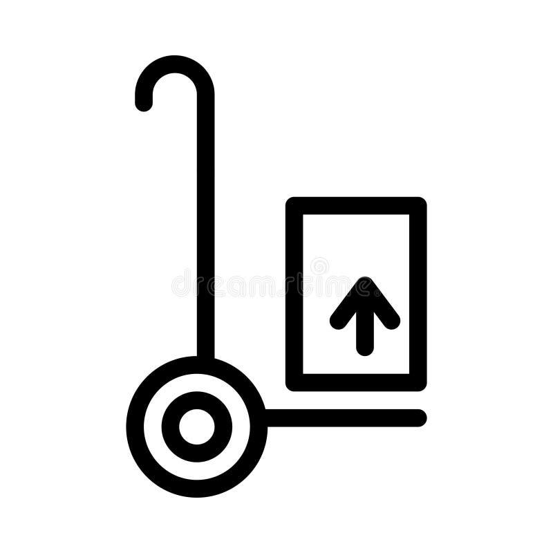 Het vectorpictogram van de karretjerassenbarrière stock illustratie