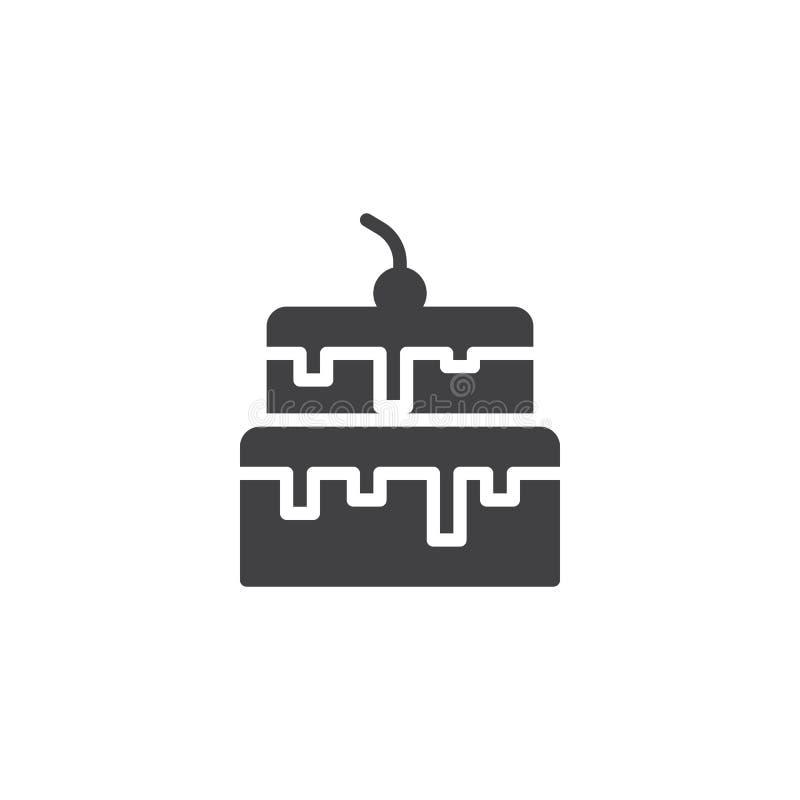 Het vectorpictogram van de kersencake vector illustratie