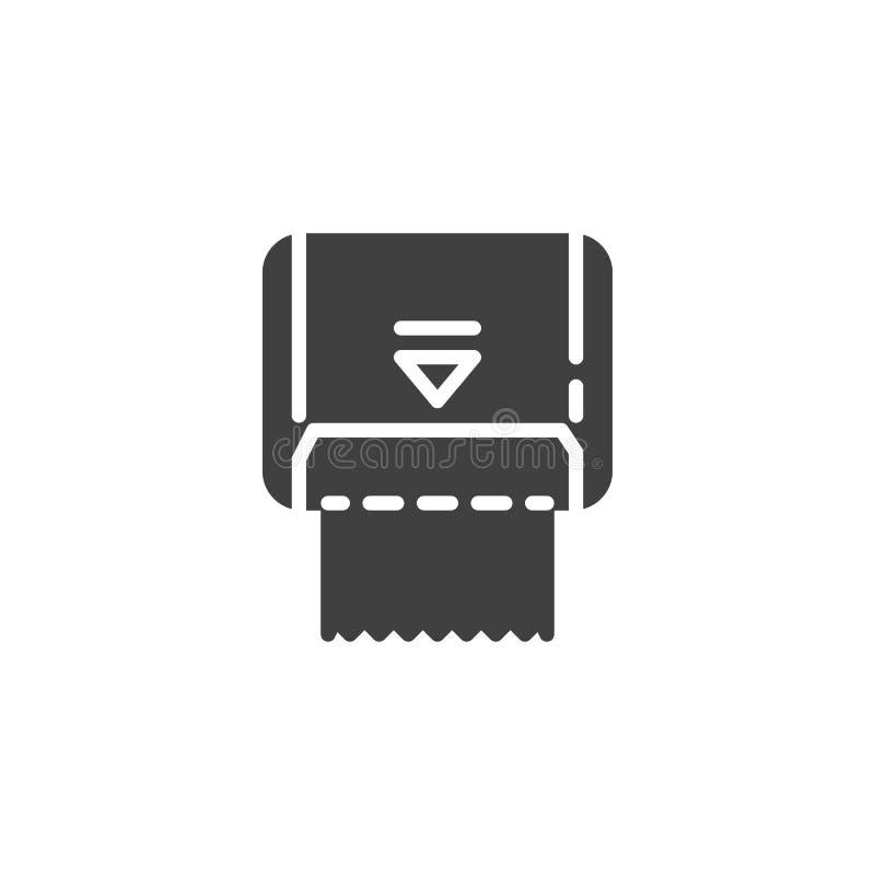 Het vectorpictogram van de keukenrolautomaat stock illustratie
