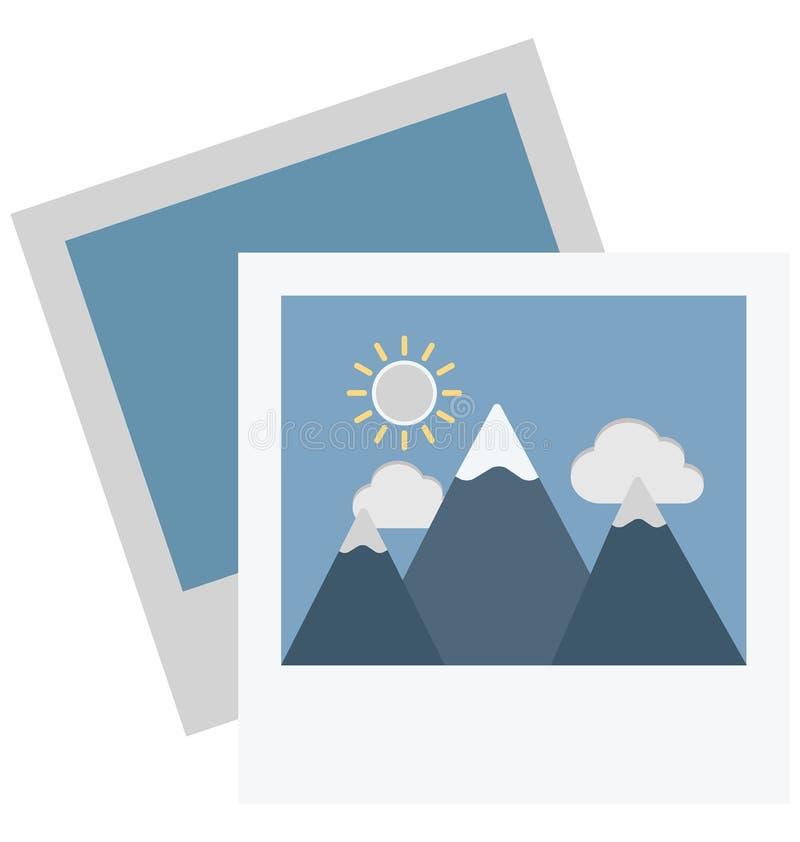 Het Vectorpictogram van de landschapskleur dat zich gemakkelijk kan wijzigen of uitgeven vector illustratie