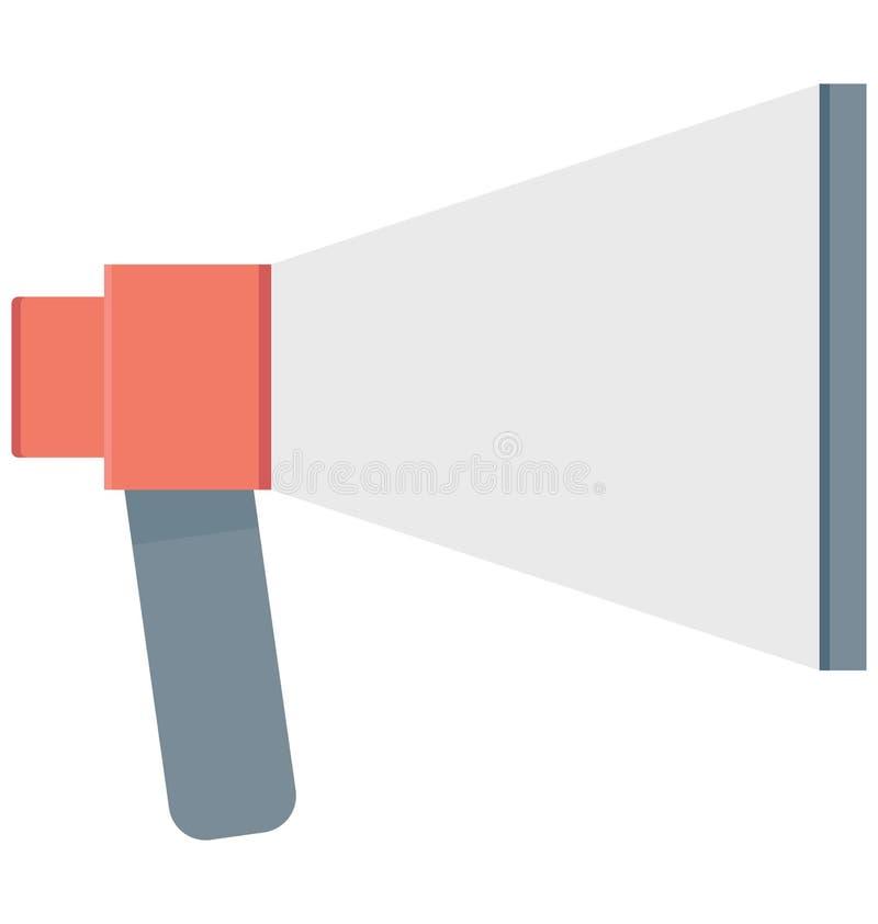 Het Vectorpictogram van de megafoonkleur dat gemakkelijk kan worden gewijzigd of uitgeven royalty-vrije illustratie