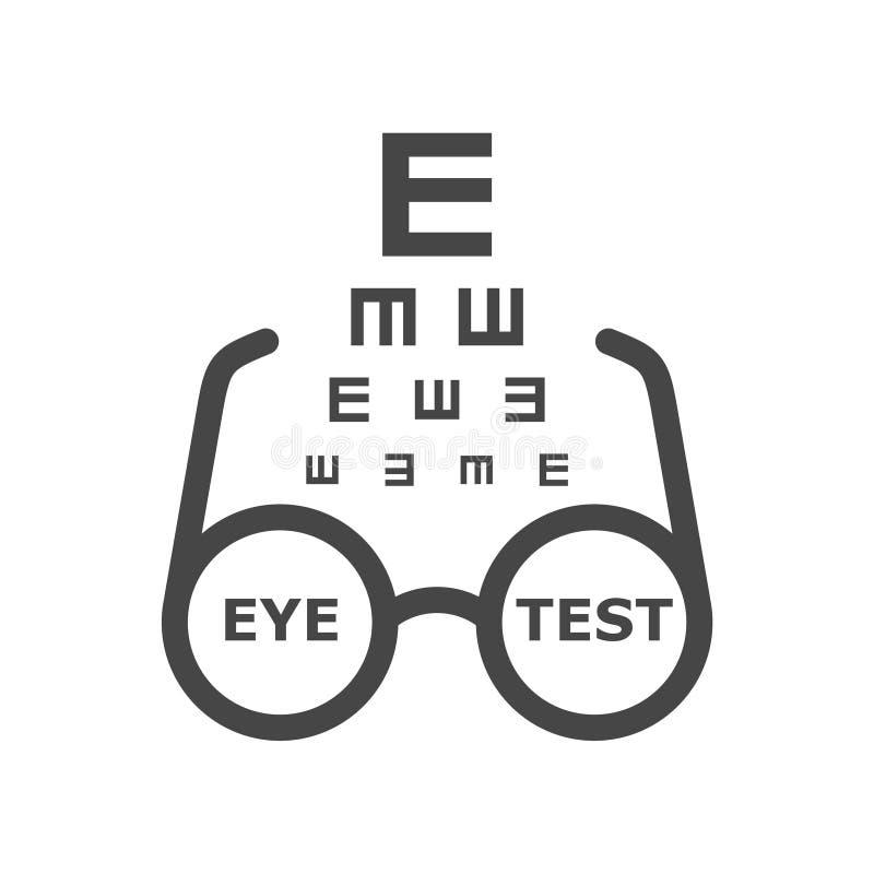 Het Vectorpictogram van de oogtest, Oftalmologiepictogram royalty-vrije illustratie