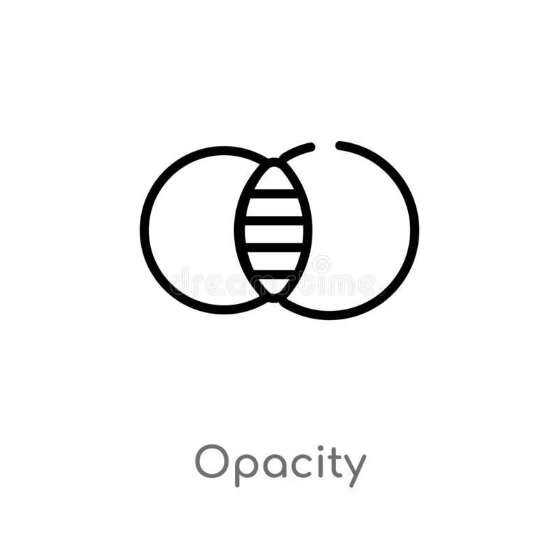 het vectorpictogram van de overzichtsopaciteit de ge?soleerde zwarte eenvoudige illustratie van het lijnelement van geeft hulpmid vector illustratie