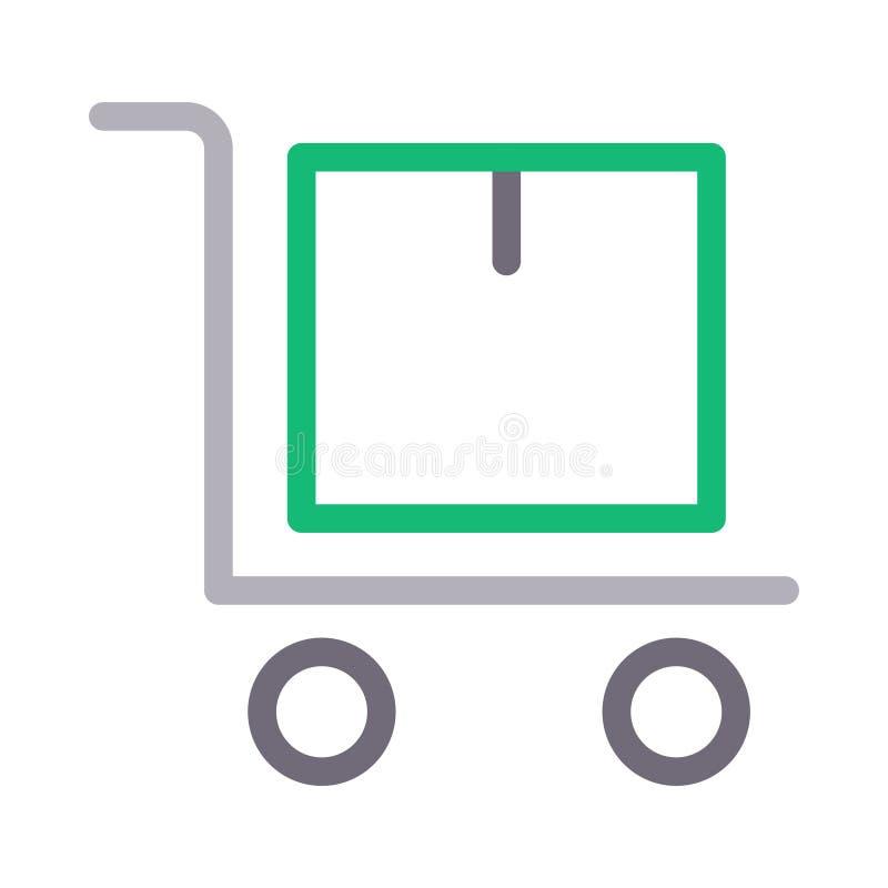 Het vectorpictogram van de pakketrassenbarrière stock illustratie