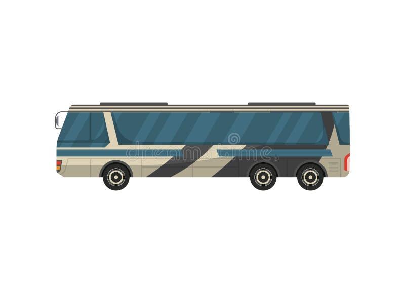 Het vectorpictogram van de passagiersbus vector illustratie