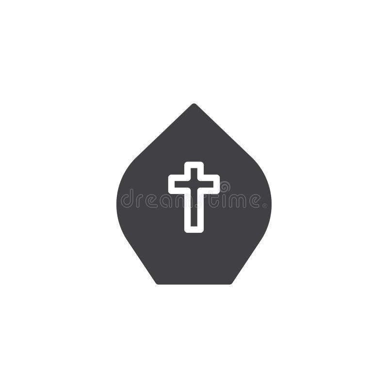 Het vectorpictogram van de paushoed royalty-vrije illustratie