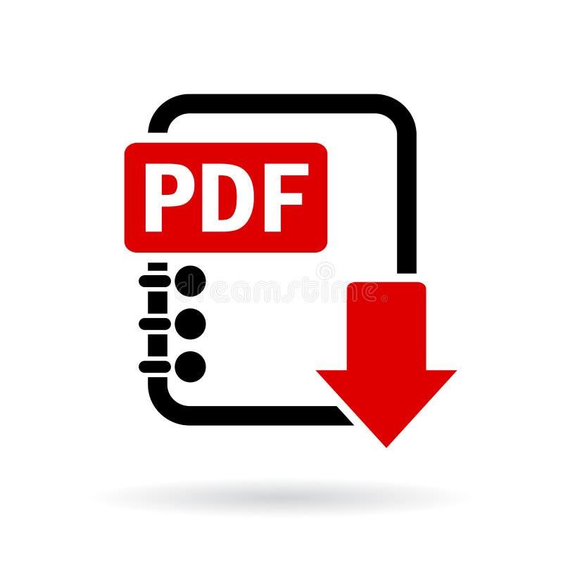 Het vectorpictogram van de Pdfdownload vector illustratie