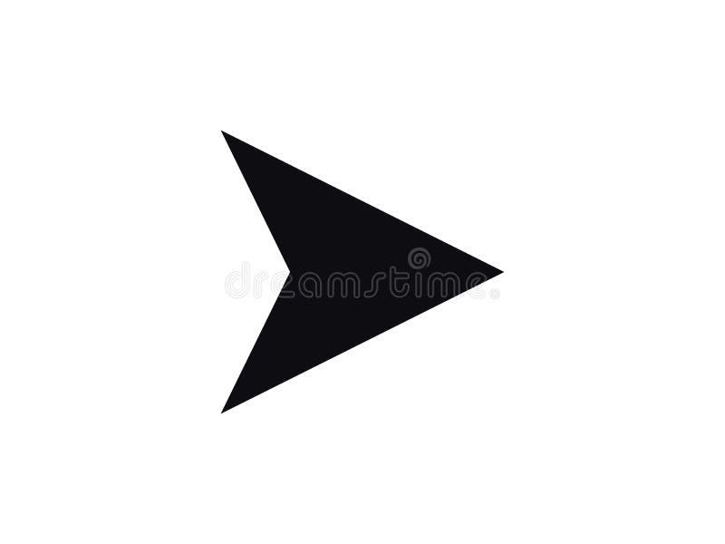 Het vectorpictogram van de pijlnavigator stock foto's