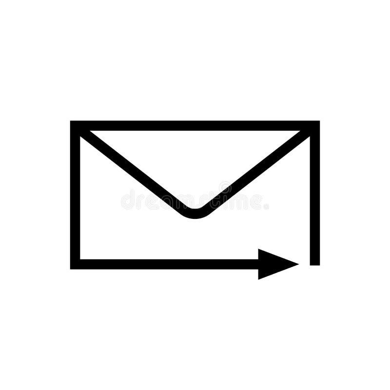 Het vectorpictogram van de postpijl royalty-vrije illustratie