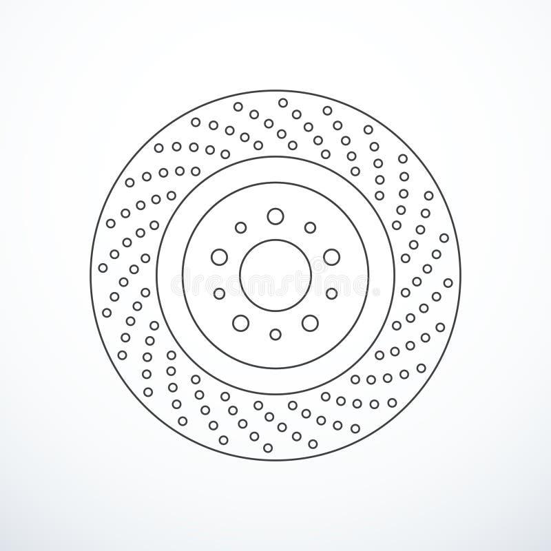 Het vectorpictogram van de remschijf vector illustratie