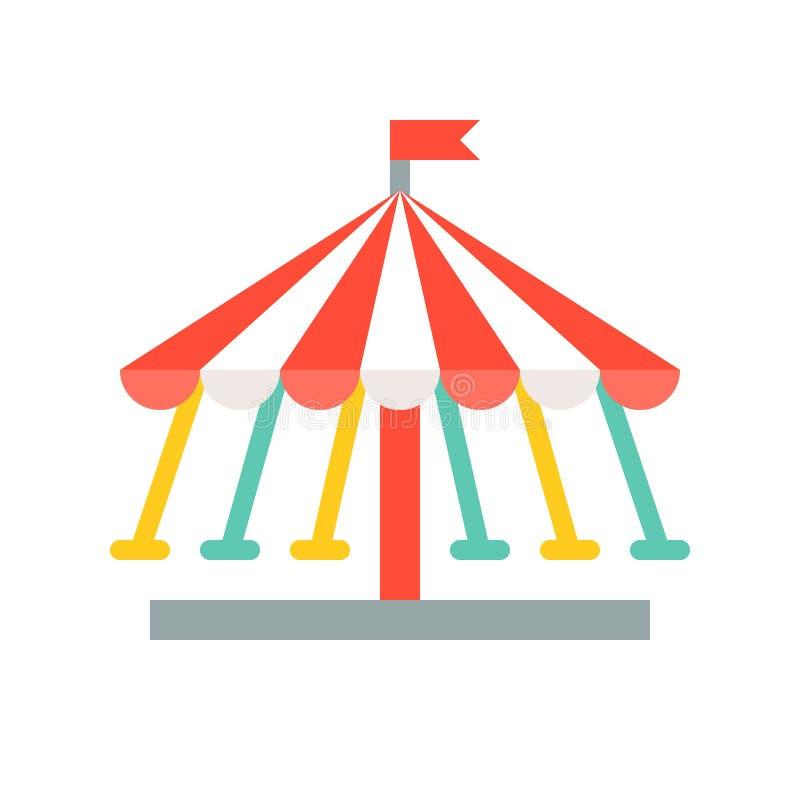 Het vectorpictogram van de schommelingsrit, pretpark verwante vlakke stijl royalty-vrije illustratie