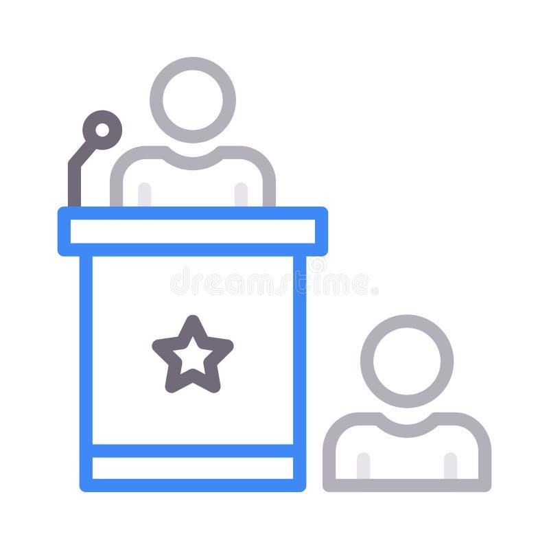 Het vectorpictogram van de toespraakrassenbarrière royalty-vrije illustratie