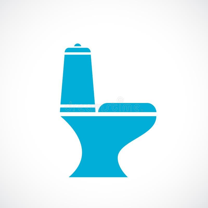 Het vectorpictogram van de toiletkom vector illustratie