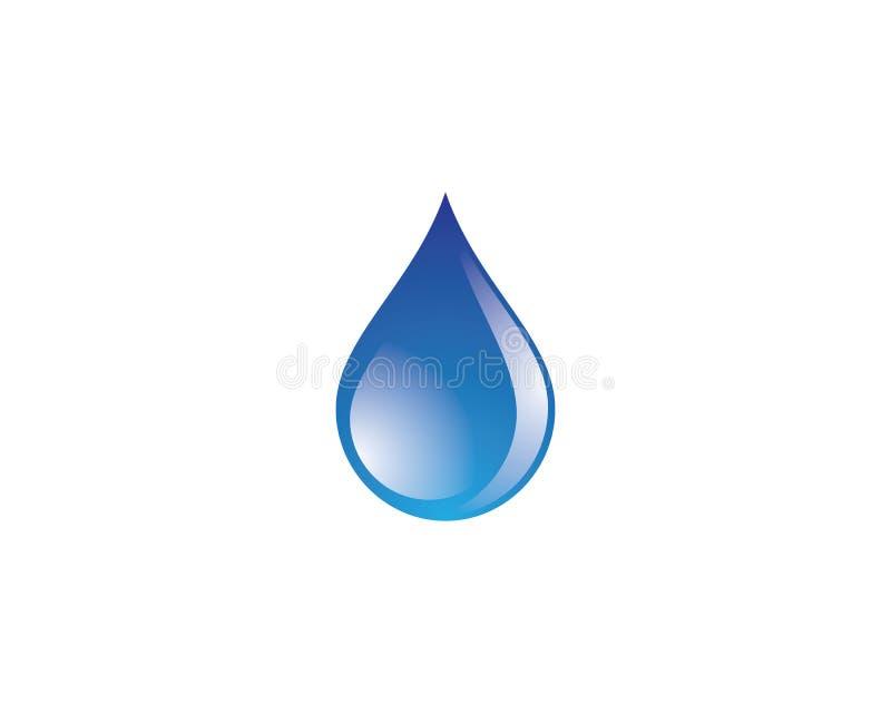 Het vectorpictogram van de waterdaling royalty-vrije stock foto's