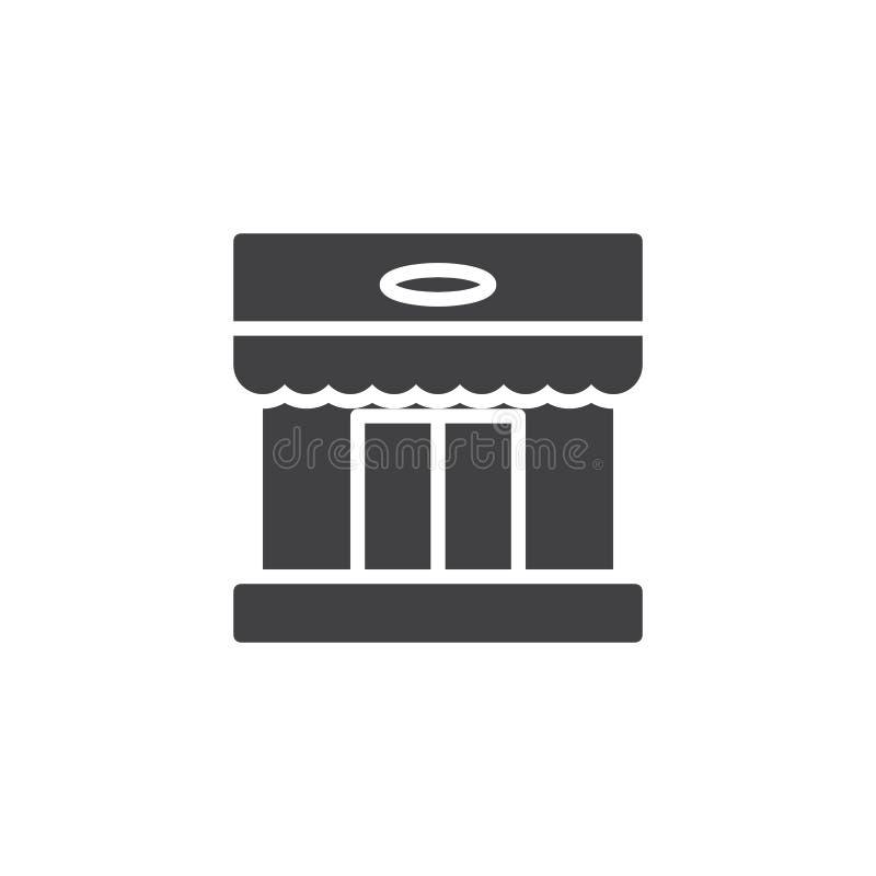 Het vectorpictogram van de winkelopslag royalty-vrije illustratie